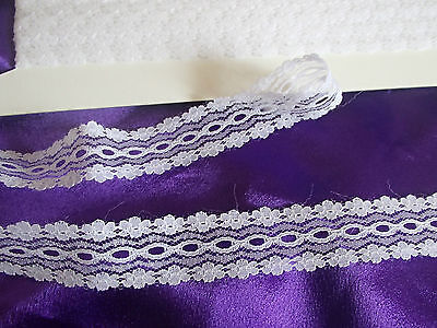 knitting in/coathanger/eyelet lace 10 meters white