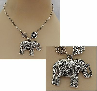 Silver Elephant Pendant Necklace Handmade NEW Accessories Fashion Chain