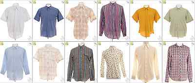 JOB LOT OF 75 VINTAGE SHIRTS- Mix of Era's, styles and sizes (18900)*