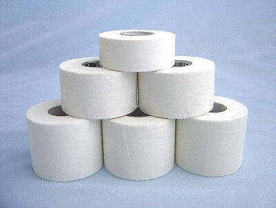 8 Rolls - 50mm x 13.7m Hypoallergenic Rigid Sports Strapping Tape - SPECIAL