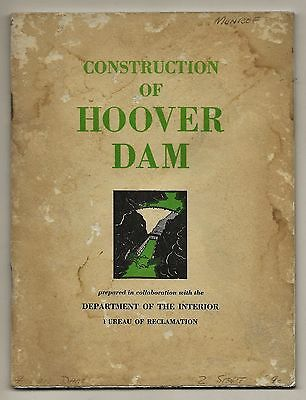 Construction of Hoover Dam 26th edition 1950 Department of the Interior