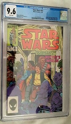 Star Wars (1977) # 85 White Pages Graded Cgc 9.6 Looks 9.8