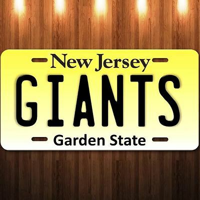 GIANTS New Jersey Aluminum Metal License Plate Tag NFL NFC Football New Champion