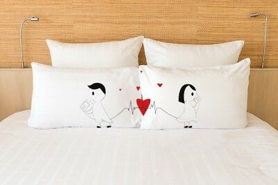 Cute Romantic Gifts - Pillow Covers Set - Matching Couple - His and Hers - Love