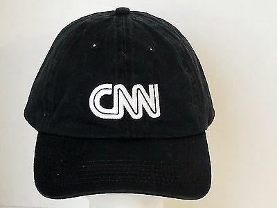 CNN Black Ball Cap With White Letters