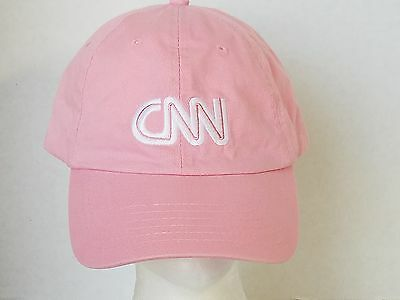 CNN Pink Ball Cap With White Letters
