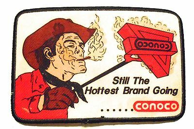 """Conoco Gasoline Large Patch  Oil 5-1/5"""" inches  Vintage"""