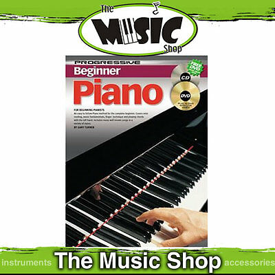 New Progressive Beginner Piano Lesson Book with CD & DVD