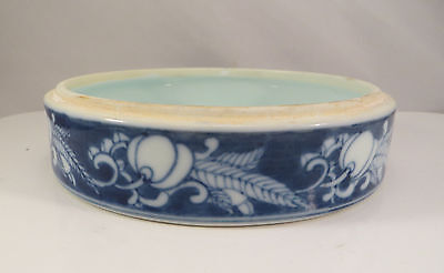 Vintage Blue & White Chinese Porcelain Bowl Container Bottom China