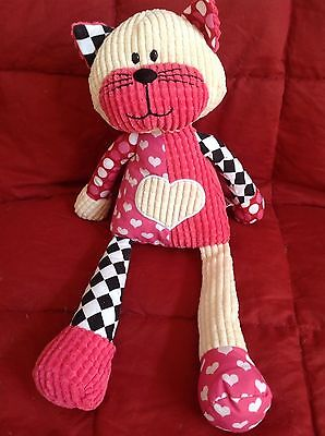 Ganz Quilted Kitty Kitten Cat Quiltees Soft Plush, Heart on Tummy