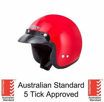Open Face Helmet As/nzs 1698 Approved Motorcycle Scooter