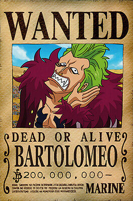 One Piece WANTED Poster (26 x 40 cm) - BARTOLOMEO – Last Bounty!