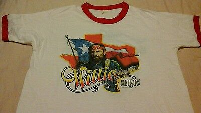 Willie Nelson Vintage Concert Shirt Circa 1984 Men's Extra Large XL T-shirt DGS