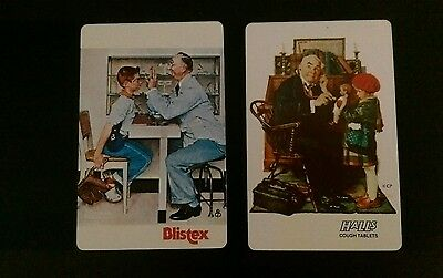 Genuine Vintage Swap Cards Norman Rockwell Ads Blister at the DoctorsX 2