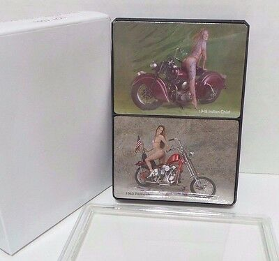 New in Box Sealed! Harley Davidson 2 Decks Playing Cards Sexy Lady