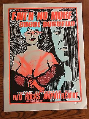 Faith No More Concert Poster by LINDSEY KUHN Red Rocks Colorado 18x24