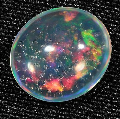 Vibrant Colorful 1.1 ct Precious Jelly Opal Cabochon from Jalisco, Mexico