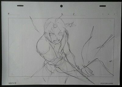 Original Rough Sketch Fullmetal Alchemist Drawing Edward Elric Manga Comic Art