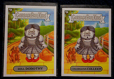 GPK Garbage Pail Kids * 2014 18b COLORLESS COLLEEN 18a DULL DOROTHY WIZARD OF OZ