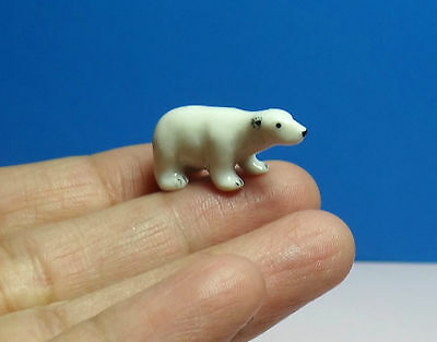 Tiny Polar Bear Porcelain Figurine