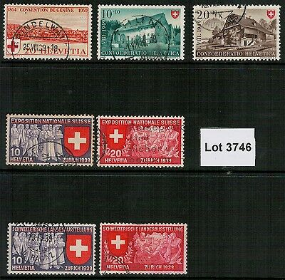 Lot 3746 - Switzerland - Selection of used Red Cross stamps