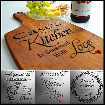 Cutting Board Chopping Personalised Engraved Kitchen House Warming Gift Chef