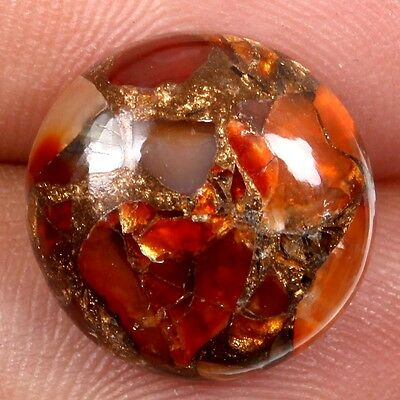 Royal 7.5 Cts CARNELIAN COPPER MOHAVE Gemstone Round Cabochon 14x14 mm s-23007