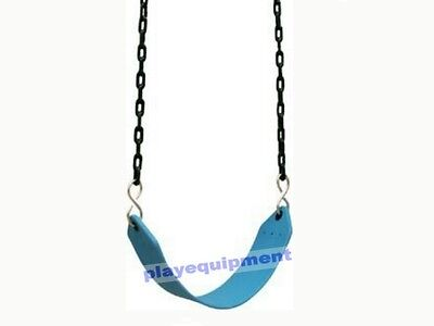 HD STRAP SEAT WITH CHAINS~BLUE Outdoor Swing Set Playground Equipment