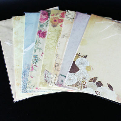 80 sheets Writing Paper Stationery Pattern Vintage Letterhead Letter Paper