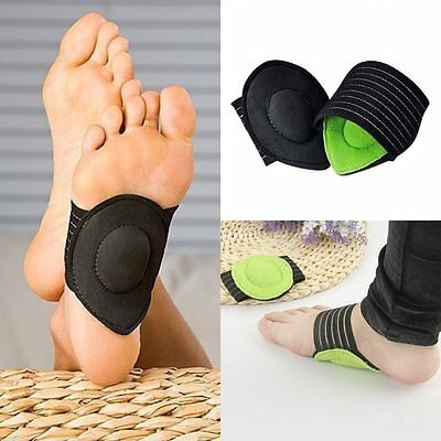 Cushion Foot Arch Supports Insole Pads Plantar Fasciitis Aid Fallen Arches Flat
