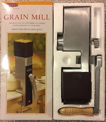 Hand Crank Grain Mill Grinder Wheat Rice Corn Flour Spices Free Priority Ship