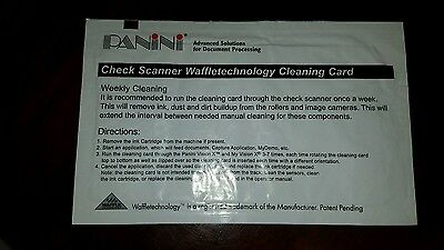 Panini Check Scanner Waffletechnology Check Scanner Cleaning Card