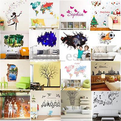 DIY Pegatina Pared Vinilo Mural Decal Decoración Hogar Adhesivo Removible Decal