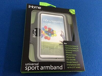 """Sport universal armband for cell phone with up to 5.5"""" screen, adjustable, black"""