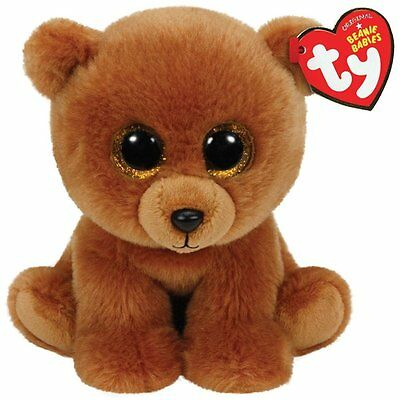 Ty Classic Brownie The Brown Bear Plush Toy Stuff Teddy Valentines Gift Girls