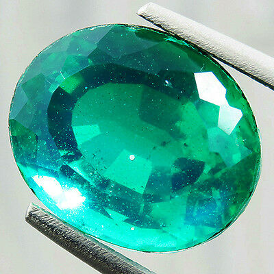 Emerald 9.50 Ct Excellent Colombian Green Emerald Doublet Gemstone  Oval
