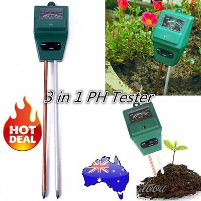 3 in 1 PH Tester Soil Water Moisture Light Test Meter for Garden Plant Good BL