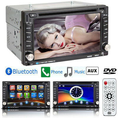 6.2'' HD Touch Screen Double 2DIN Car Stereo DVD CD MP3 Player Bluetooth Radio T