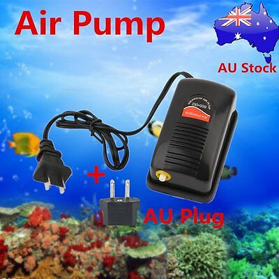 RS-180 Air Oxygen Pump for Fish Turtle Tank Super Silent Aquatic Airpump BL