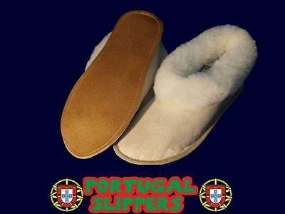Mens Sheepskin Slippers Slipper Boot From Portugal**soft Sole** All Sizes New