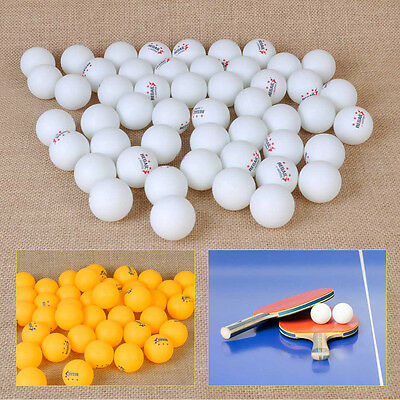 50pcs 40mm White Orange 3-Stars Olympic Ping Pong Ball Table Tennis