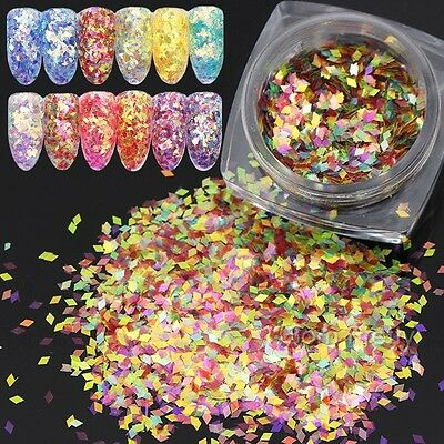 2g/box BORN PRETTY Fish Scale Nail Sequins Glitter Rhombus  Decor Tips