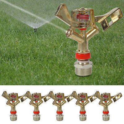 "5 pcs 3/4"" Irrigation Head Water Impact Sprinkler Full Circle Garden Lawn Grass"