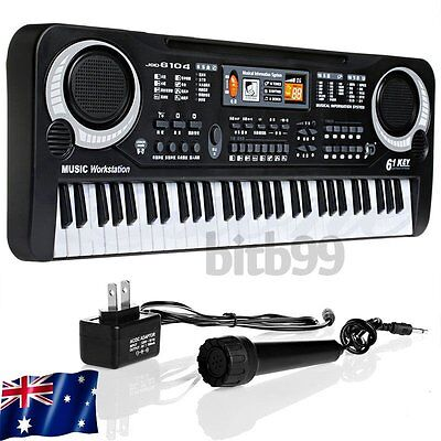 61 Keys Digital Music Electronic Keyboard Key Board Electric Piano Gift AU