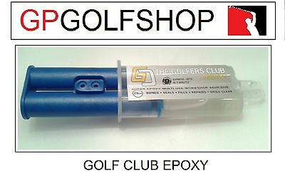 Golf Club Clear Super Epoxy / Glue Quick Set for D.I.Y or Workshop Golf Repairs