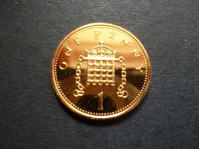 1992 Brilliant Uncirculated One Pence Coin, 1992 1P Piece Uncirculated Condition
