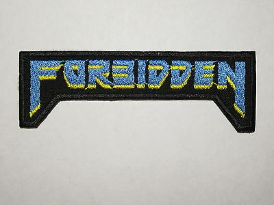 FORBIDDEN early logo embroidered NEW patch thrash metal