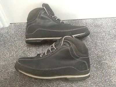 Timberland men's Black Boots size 9.5 uk