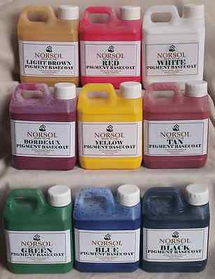 NORSOL leather pigment coating for repairs or renovation. colourant, dye, stain