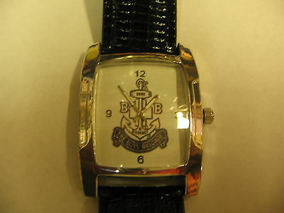 Superb Boys Brigade Watch Quarts Movement Battery Operated Black Leather Strap